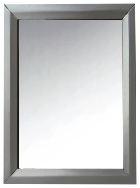 Ancerre Designs 28 Solid Wood Framed Mirror, Sapphire Gray by Ancerre Designs