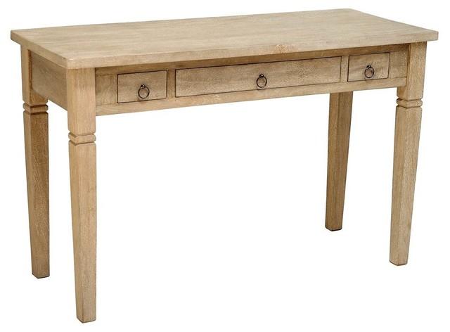 Rustic Desk, Mango Gray Wash Finish.