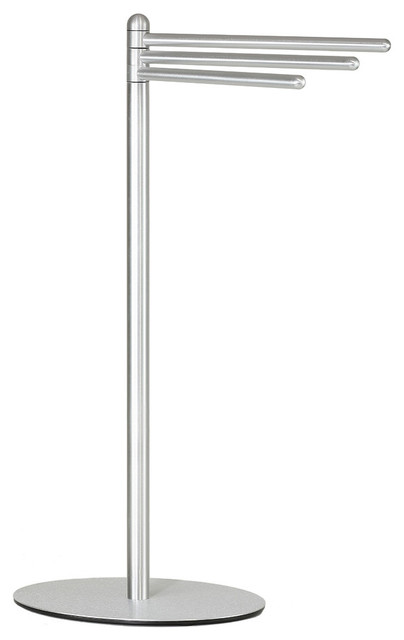Noli Contemporary 3 Swing Arm Towel Stand Brushed