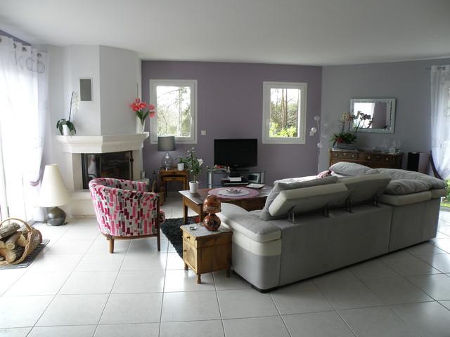 Pièce de vie : salon, salle à manger et cuisine - Moderne - Salle de ...