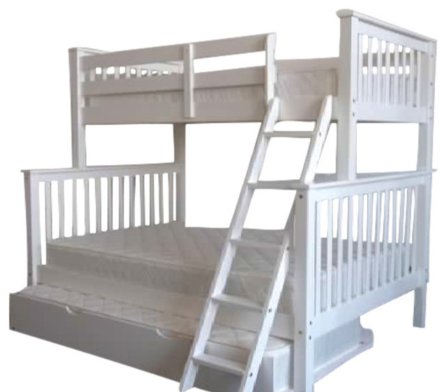 Bedz King Bunk Beds Twin Over Full White Twin Trundle