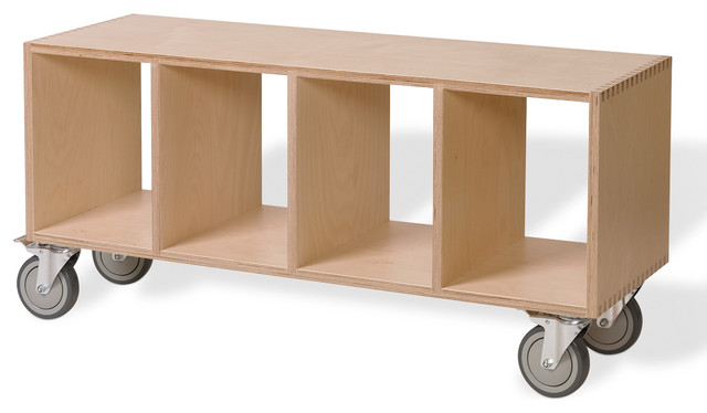 Super Modern Wood Bench On Casters Open Cube Storage Birch Pdpeps Interior Chair Design Pdpepsorg