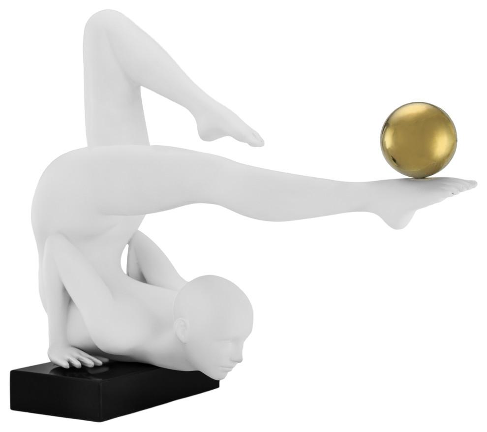 Finesse Decor Margoux Doll Black White Gold