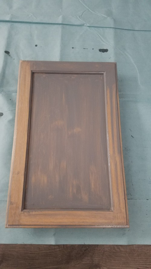 Hoping to stain cabinets gray