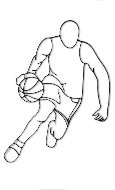 Basketball Player Wall Mount Coat Hook Wrought Iron Sports Decor Small