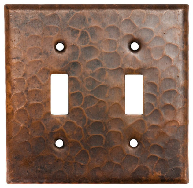 St2 Copper Switchplate Double Toggle Switch Cover Traditional