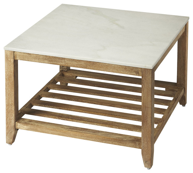 brayden marble bunching coffee table - natural wood Bunching Coffee Tables