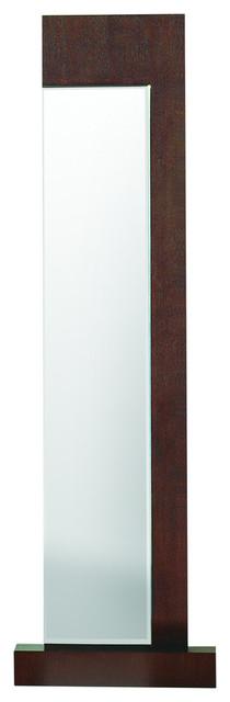Traxler Standing Mirror In Walnut.
