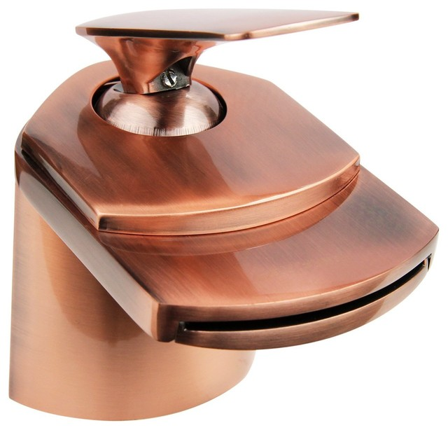 Antique Copper Waterfall Bathroom Faucet - Transitional - Bathroom ...