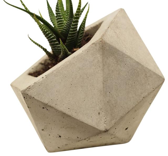 Geodesic Concrete Planter