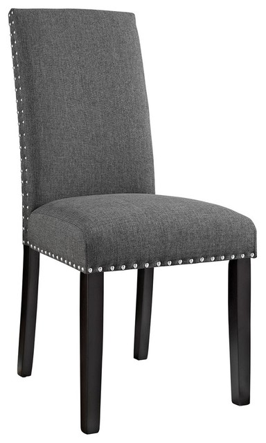 modway modway parcel dining fabric side chair gray dining chairs