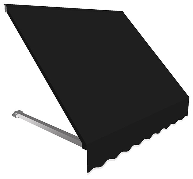 3&x27; Dallas Retro Window/entry Awning, Black.