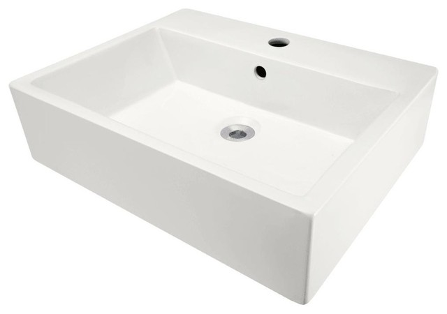Porcelain Vessel Sink Bisque Only No Additional Accessories