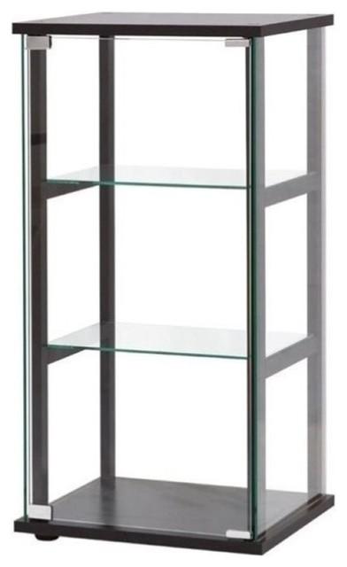Shop Houzz | Bowery Hill Bowery Hill 3-Shelf Contemporary Glass Curio Cabinet, Black - China ...
