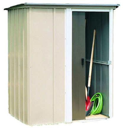 Outdoor Lawn Garden Tool Storage Shed, 4&x27;x5&x27;.
