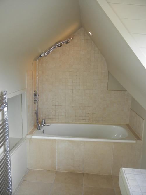 Small bathroom for Sloped ceiling bathroom ideas