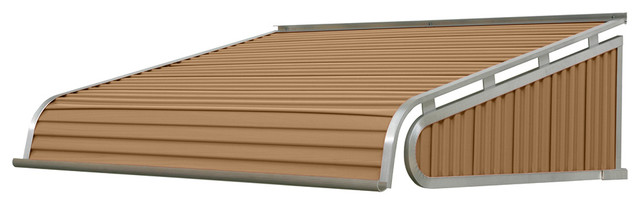 "1500 Series Aluminum Door Canopy 54""x48"" Projection, Mocha Tan."