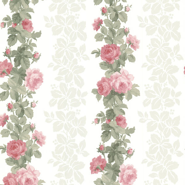Preshea Pink Rose Stripe Wallpaper Bolt