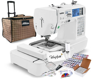 Brother LB-6800PRW Project Runway Sewing/Embroidery Machine Package - Contemporary - Sewing ...