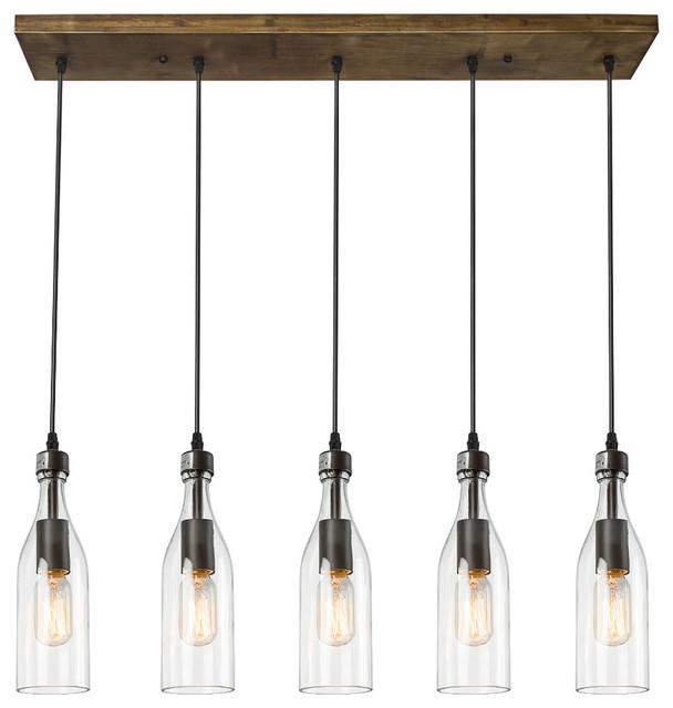 5 light glass mason jar hanging ceiling pendant kitchen island lighting industrial kitchen - Hanging Ceiling Lights For Kitchen