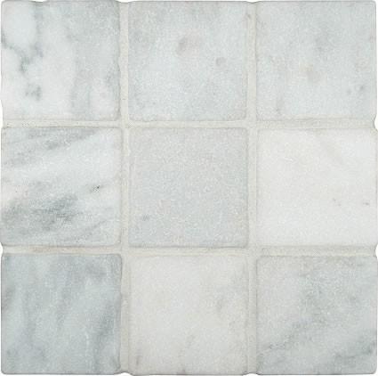 4 X4 Arabeo Carrara Tumbled Marble Floor And Wall Tile Small Piece Sample