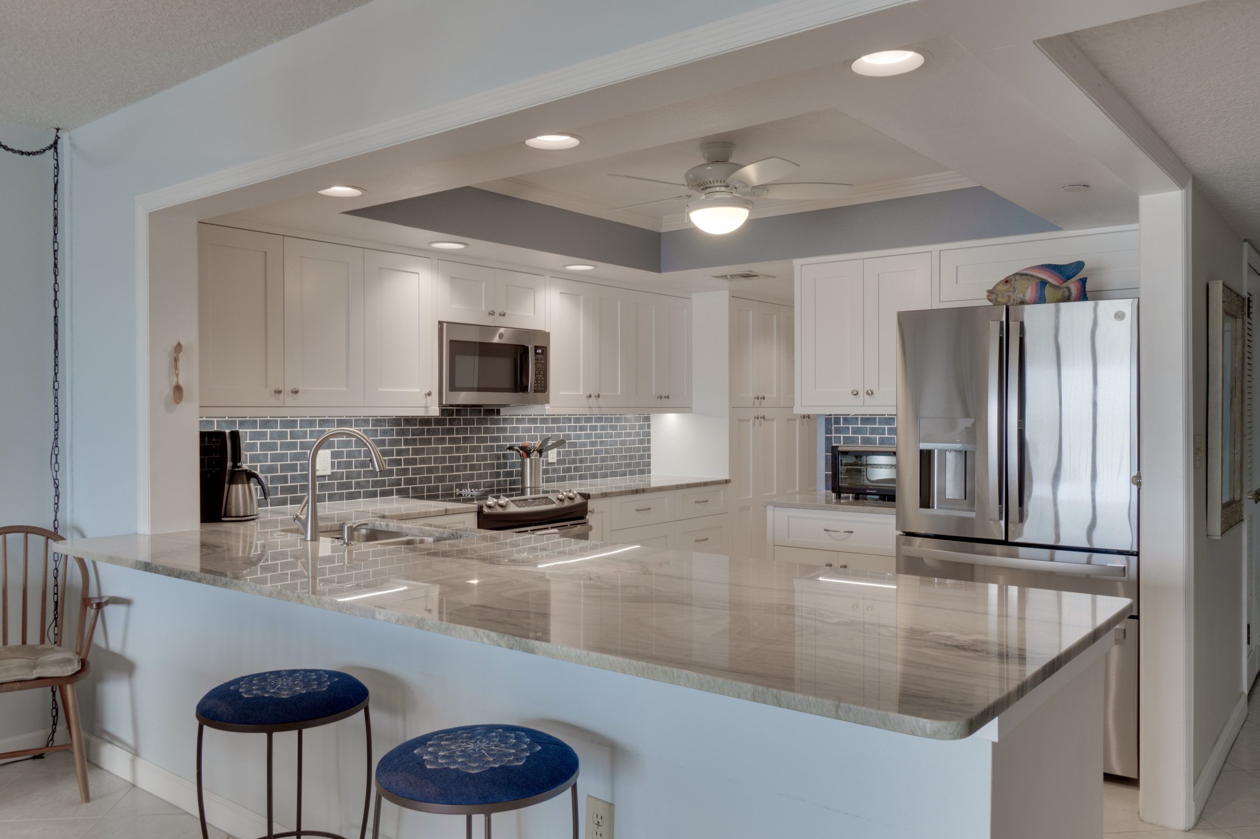 Condo Kitchen Remodel in Painted White Shaker