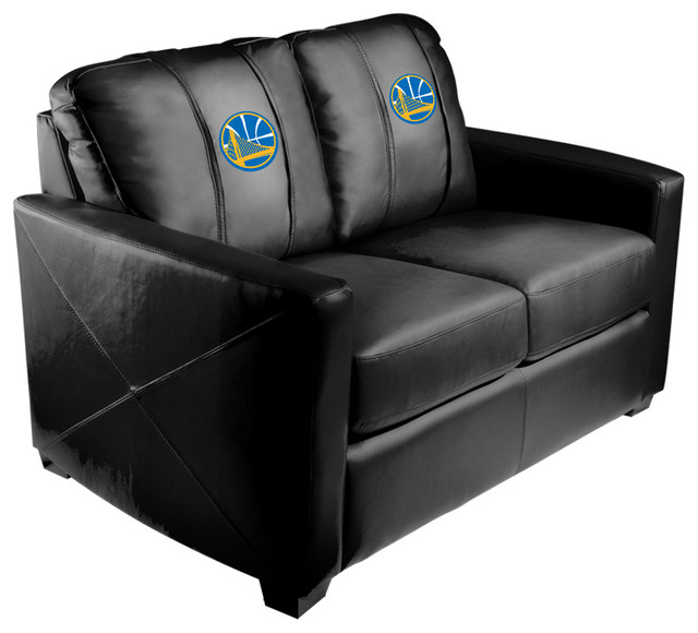 Golden State Warriors Nba Silver Love Seat.