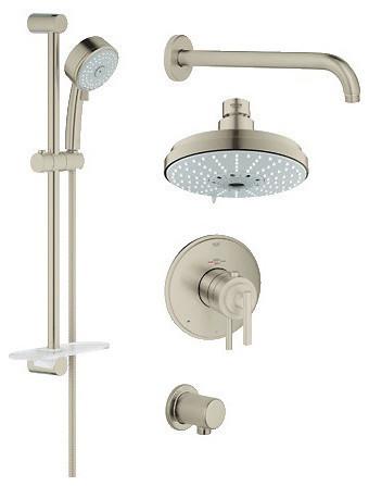 Grohe 35056000 Grohflex Shower Set Chrome Contemporary Tub And