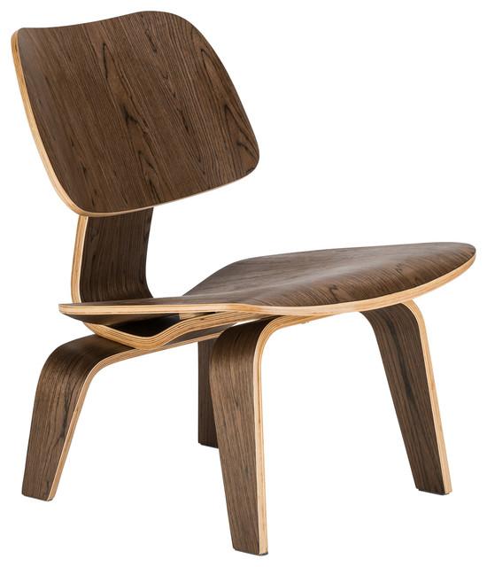 Isabella Lounge Chair, Walnut by Edgemod Furniture