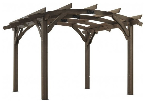 Outdoor Greatroom 12&x27;x12&x27; Mocha Sonoma Wood Pergola Kit.