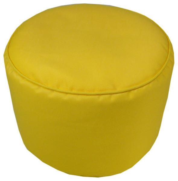 Awe Inspiring Sunbrella Sunflower Yellow Indoor Outdoor Pouf 17X17 Machost Co Dining Chair Design Ideas Machostcouk