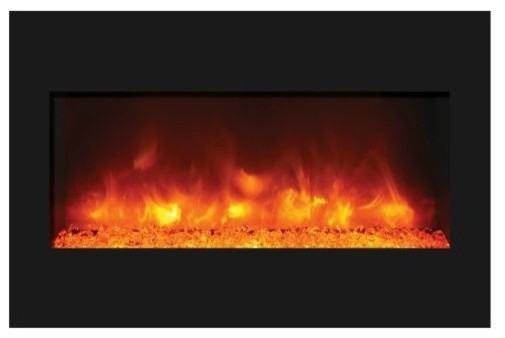 33 Zecl Electric Fireplace With Black Glass Surround And 3 Colors Media.
