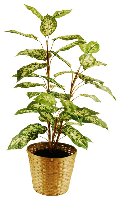artificial floor plants and trees - dieffenbachia floor plant basket Artificial Floor Plants