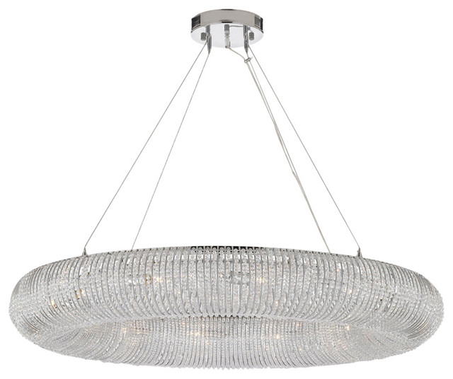 Crystal Halo Chandelier Modern Contemporary Lighting Floating Orb