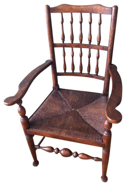 Antique English Country Spindle-Back Dining Chairs - $2,500 Est. Retai - SOLD OUT! Antique English Country Spindle-Back Dining Chairs