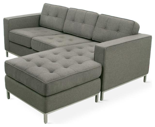 Gus Modern Jane Loft Bi-Sectional Sofa, Totem Storm.