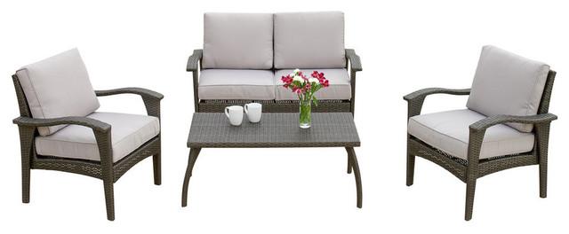 4-Piece Voyage Outdoor Sofa, Gray Set