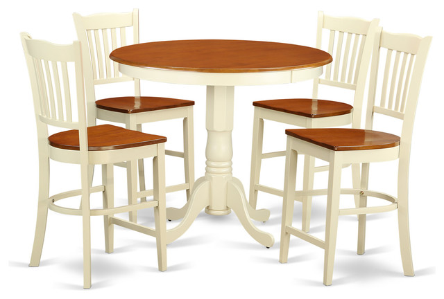 bayside furnishings 7piece counter height round dining set c