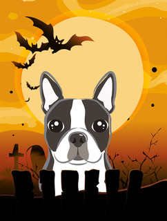 halloween boston terrier flag garden size contemporary outdoor holiday decorations by the store - Boston Terrier Outdoor Christmas Decoration