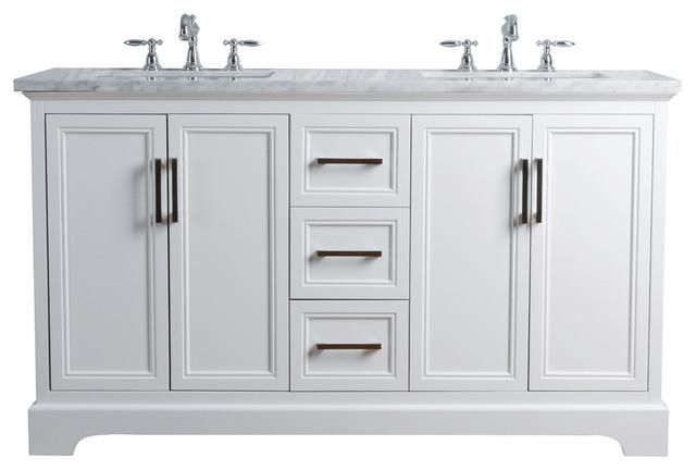 "Ariane 60"" Double Vanity Cabinet Dual Bathroom Sinks, ..."
