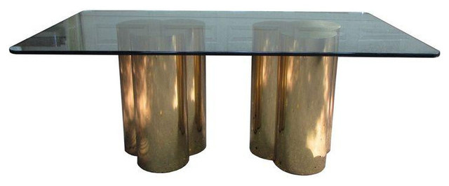 Mastercraft Brass Trefoil Dining Table Base - Modern dining table bases only