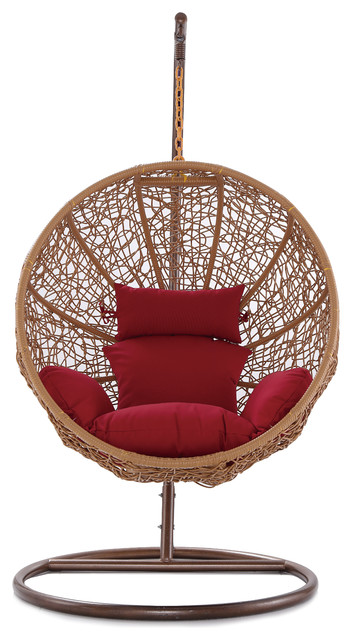 zolo hanging lounge chair red tropical hanging chairs. Black Bedroom Furniture Sets. Home Design Ideas