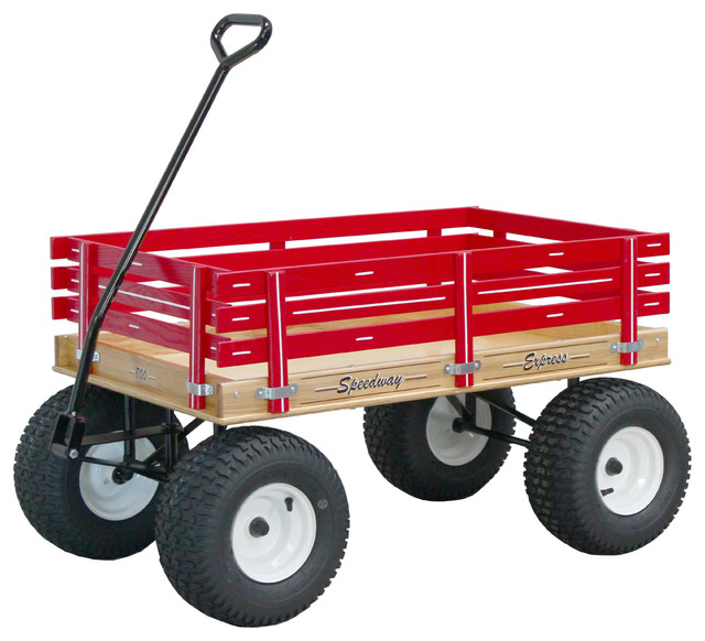 Speedway Express Garden Wagon With Off Road Tires Wheelbarrows