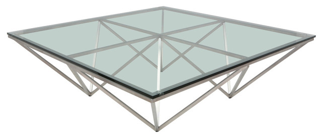 Large Square Stainless Steel Origami Coffee Table