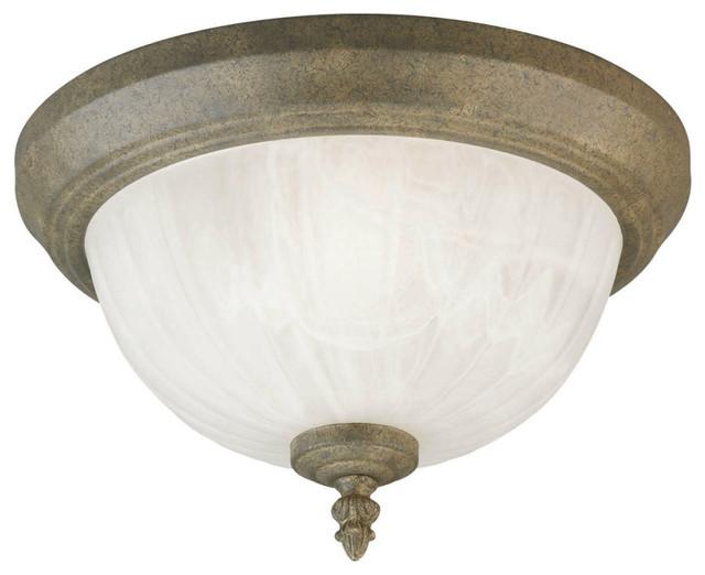 Black Westinghouse 66840 One-Light Flush-Mount Outdoor Fixture w// Glass Globe