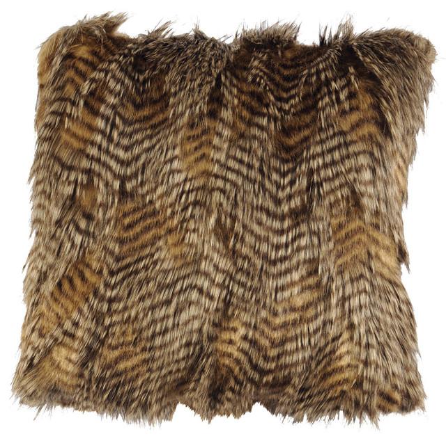 Feathers Faux Fur, Pillow.