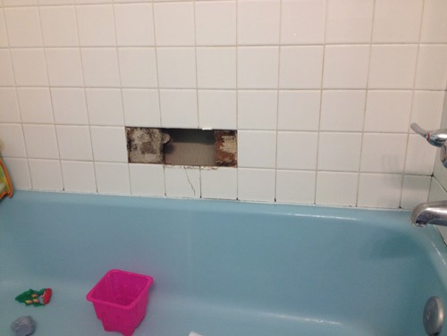 Re Tiling Around Vintage Blue Bathtub?