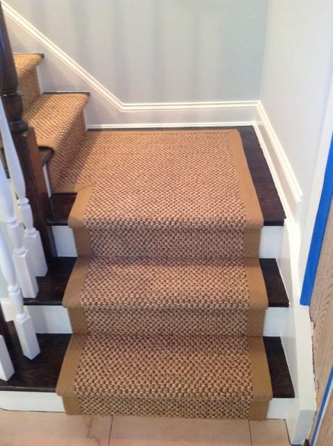 Custom Ed Sisal Carpet Runner With Wide Binding Transitional