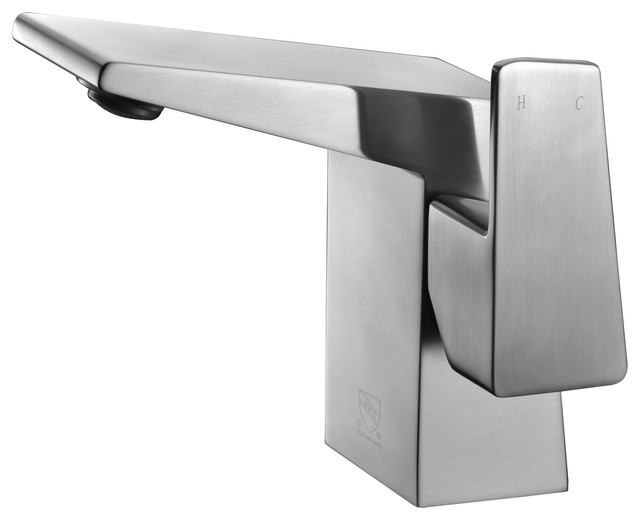 Alfi Modern Single Hole Bathroom Faucet Brushed Nickel