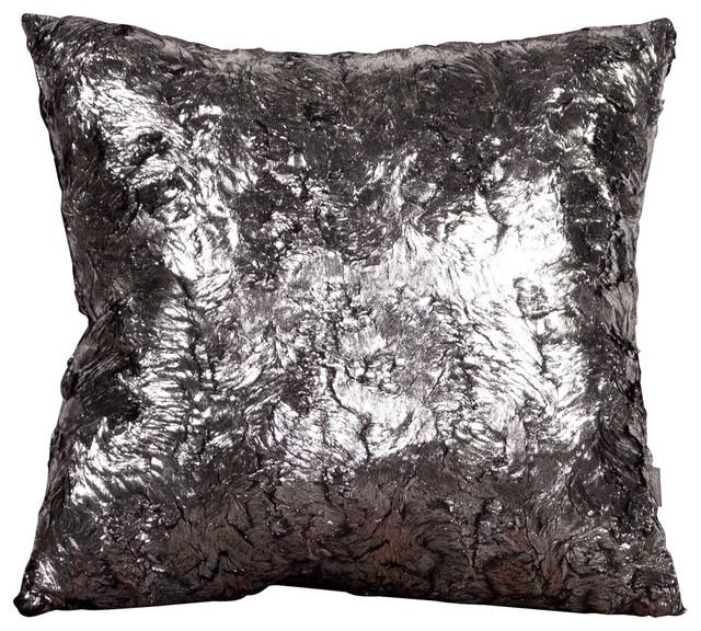 Modern Silver Pillow : Silver Fox Pillow - Contemporary - Decorative Pillows - by Fratantoni Lifestyles